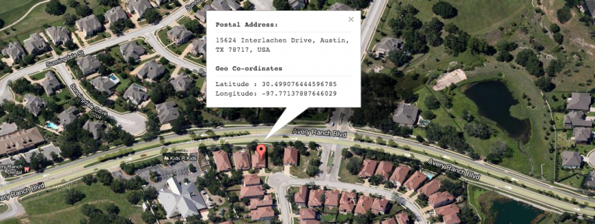 Address Lookup using Google Maps