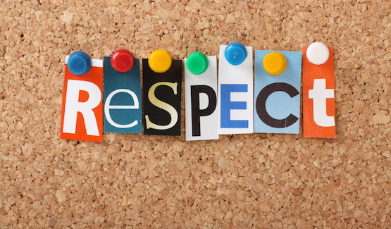 Have more respect for yourself