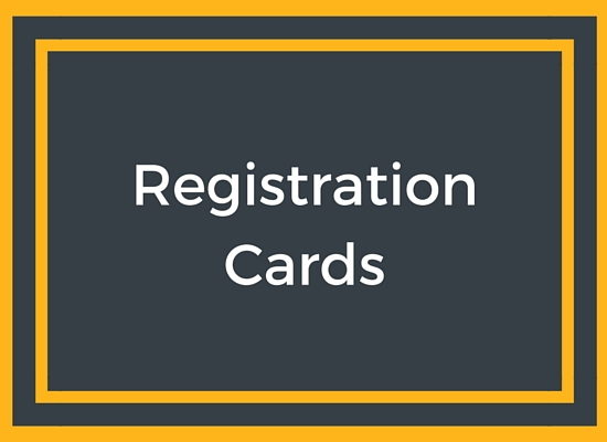 Registration Cards