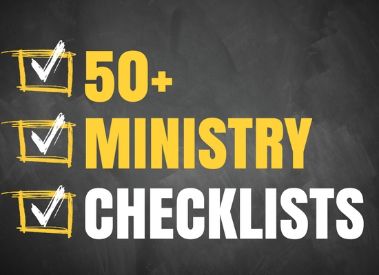 50+ Ministry Checklists