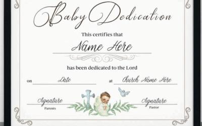 Baby Dedication Certificates: 10 Examples